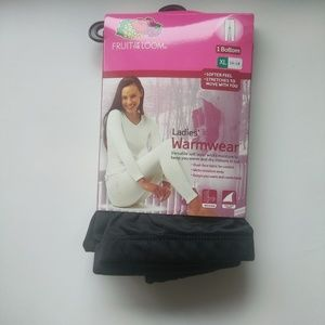 Fruit Of The Loom Black Size XL Warmwear Thermals
